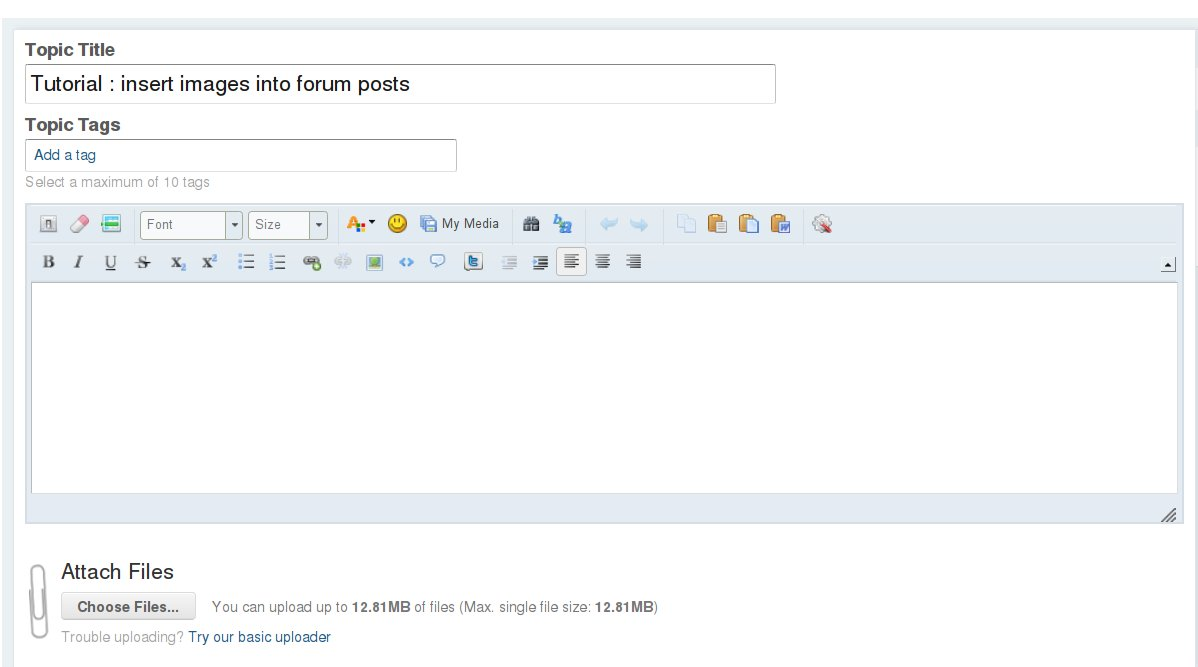 Tutorial how to insert images into forum posts general for Embed a forum into your website