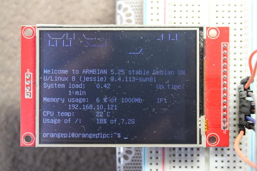 Display ili9341 on orange pi zero armbian - Allwinner H2