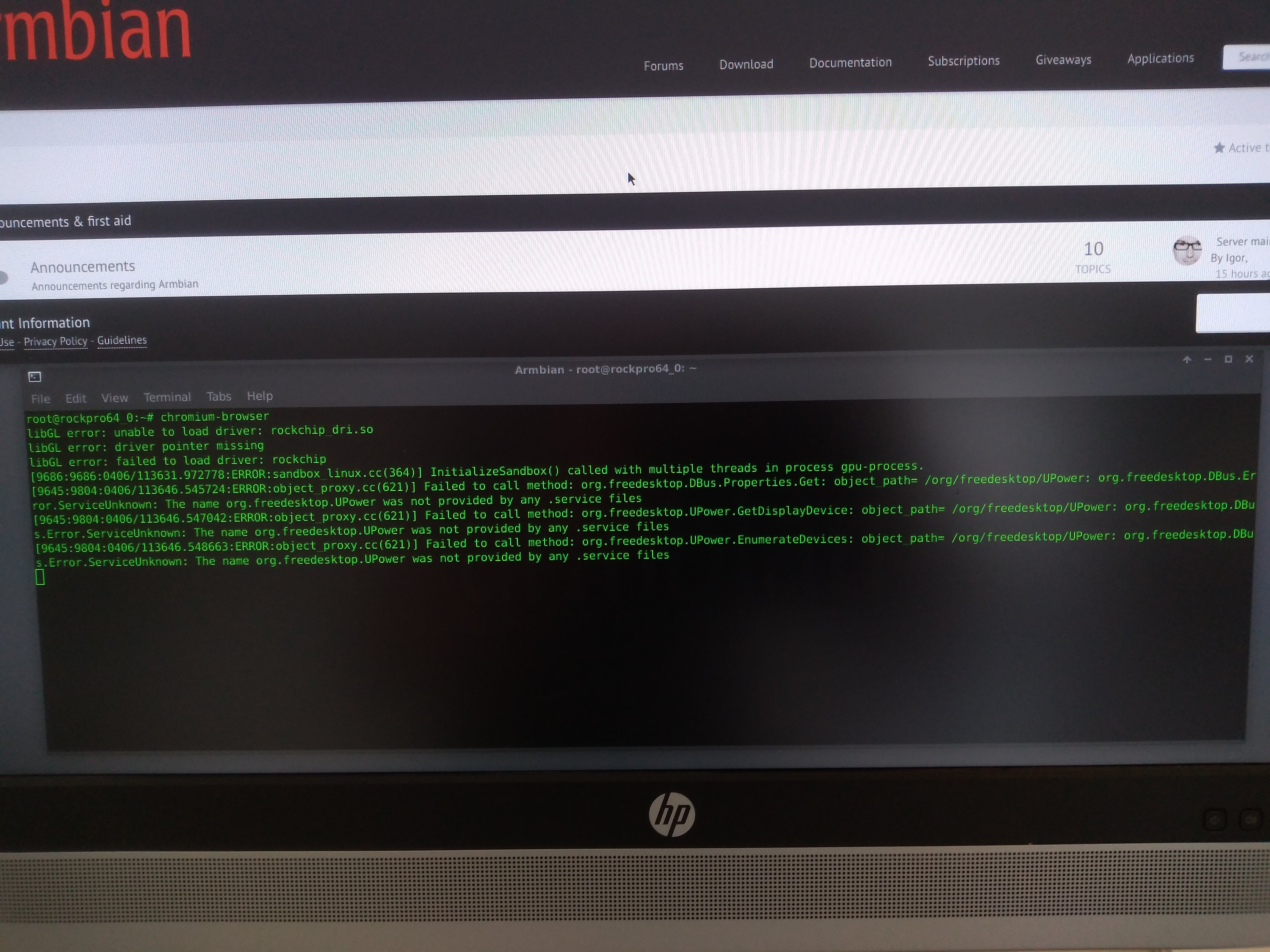 sick and tired of my Armbian desktop locking and crashing - Page 2