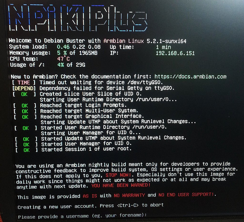 Armbian for the orange PI PC2 gives nothing, tried the